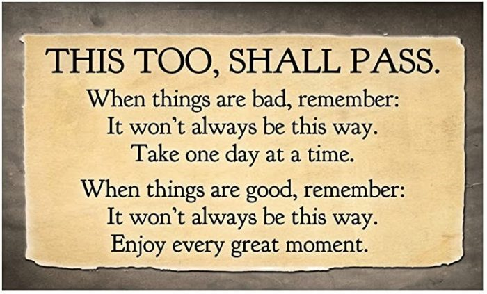 This too, shall pass quote