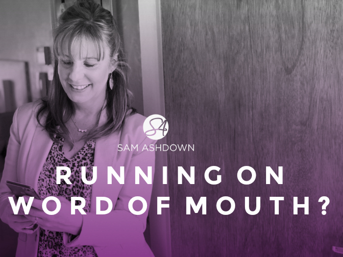Running on word of mouth?