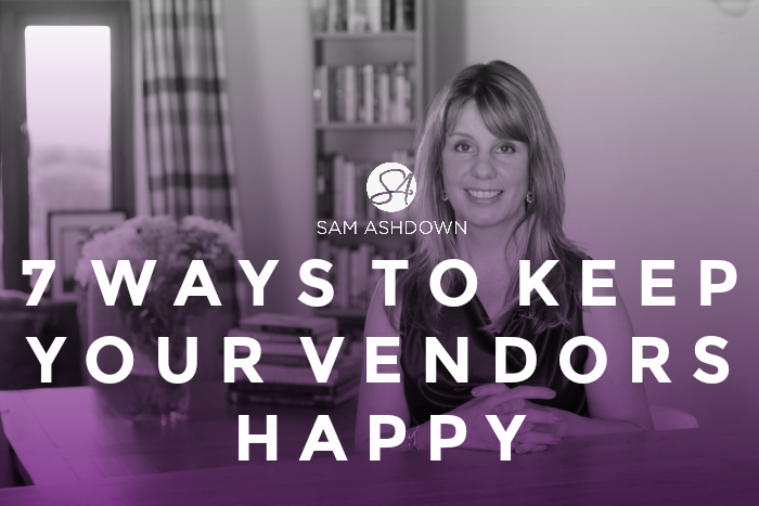 7 Ways to keep your Vendors Happy