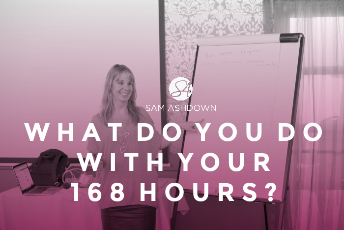 What Do You Do With Your 168 Hours?