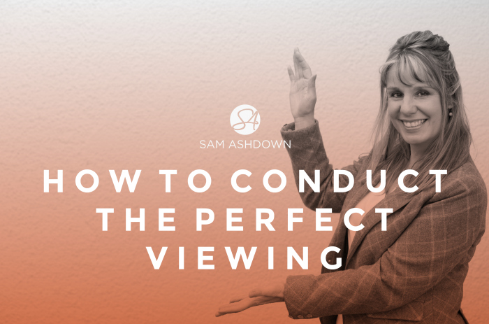 How to conduct the perfect viewing