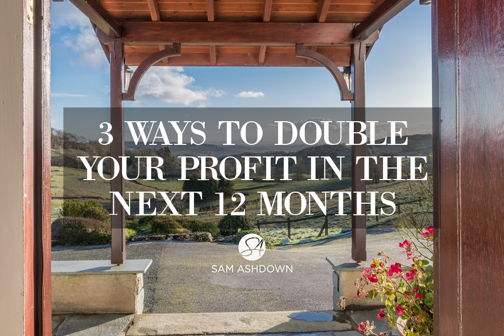 3 Ways to double your profit in the next 12 months blogpost for estate agents by Sam Ashdown