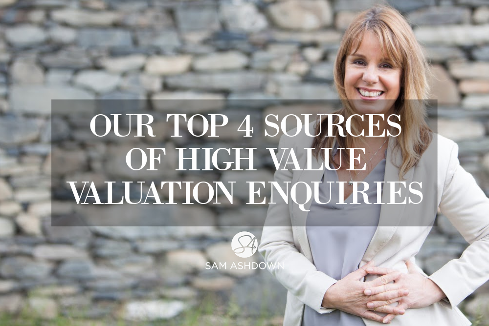 Our top 4 sources of high value valuation enquiries blogpost for estate agents by Sam Ashdown