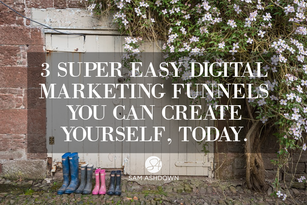 3 Super Easy Digital Marketing Funnels you can Create Yourself, Today. blogpost for estate agents by Sam Ashdown