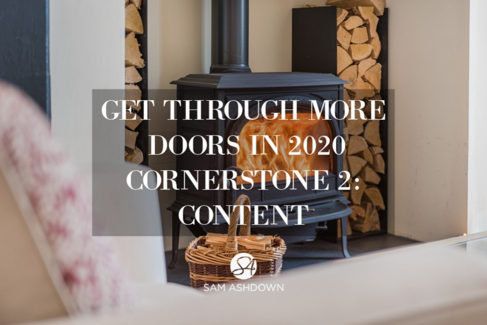 Get Through More Doors in 2020 CORNERSTONE 2: CONTENT