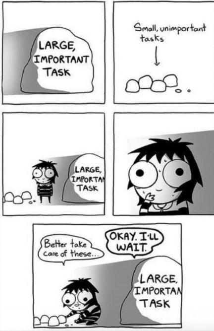 cartoon about handling tasks