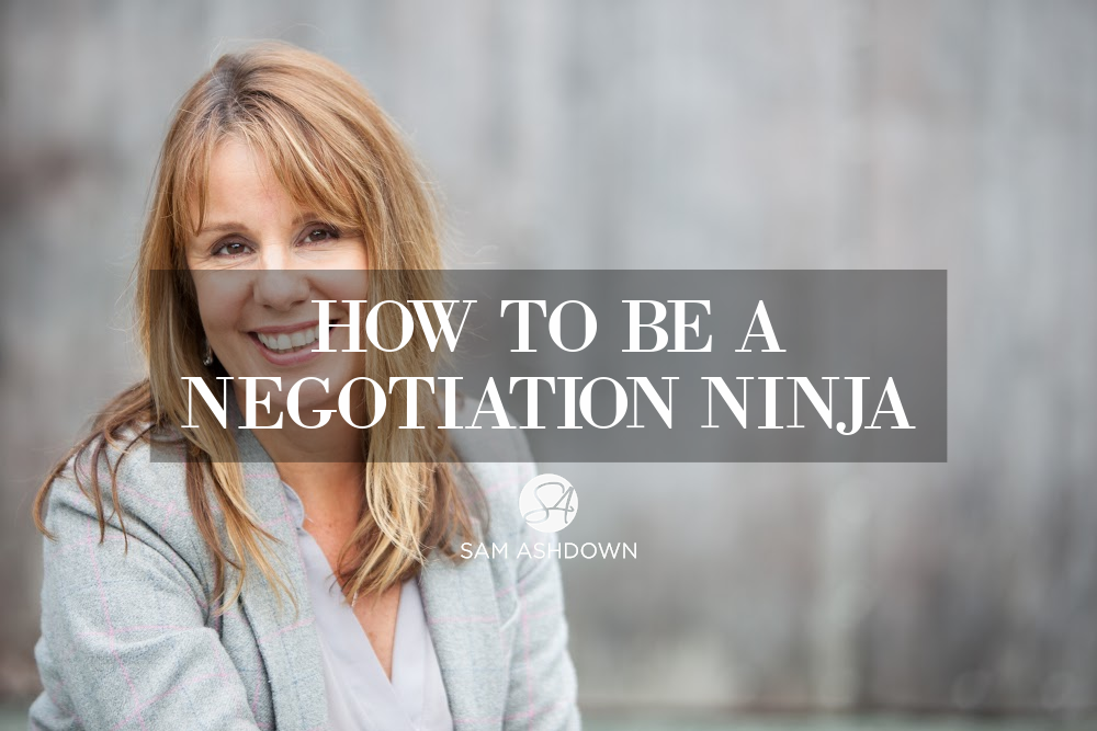 How to be a negotiation ninja blogpost for estate agents by Sam Ashdown